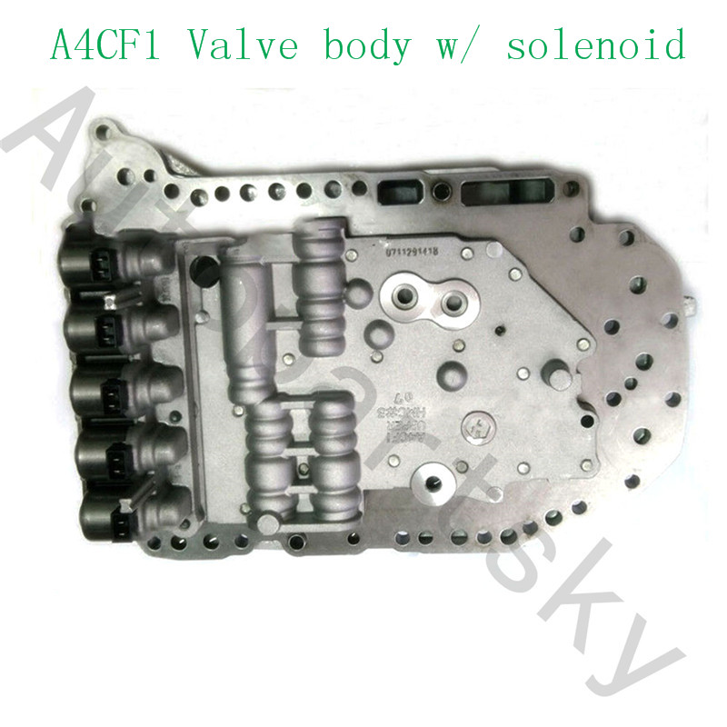 Free Shipping - A4CF1 Valve Body With Solenoid Fit For Hyundai Kia 4 Speed L4 1.4L 1.6L 2.0L Remanufactured In Good Quality