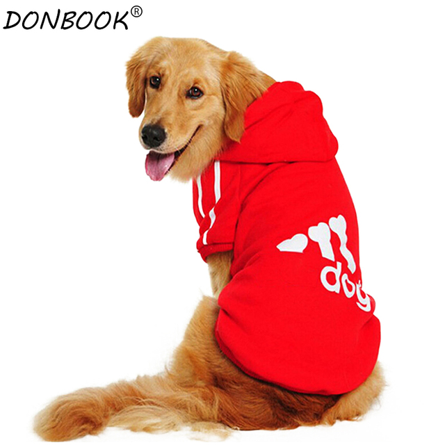 Donbook Large Size Dog Clothes for Big Dogs Golden Retriever Winter Pet Hoodie Sportswear 2XL-9XL 1