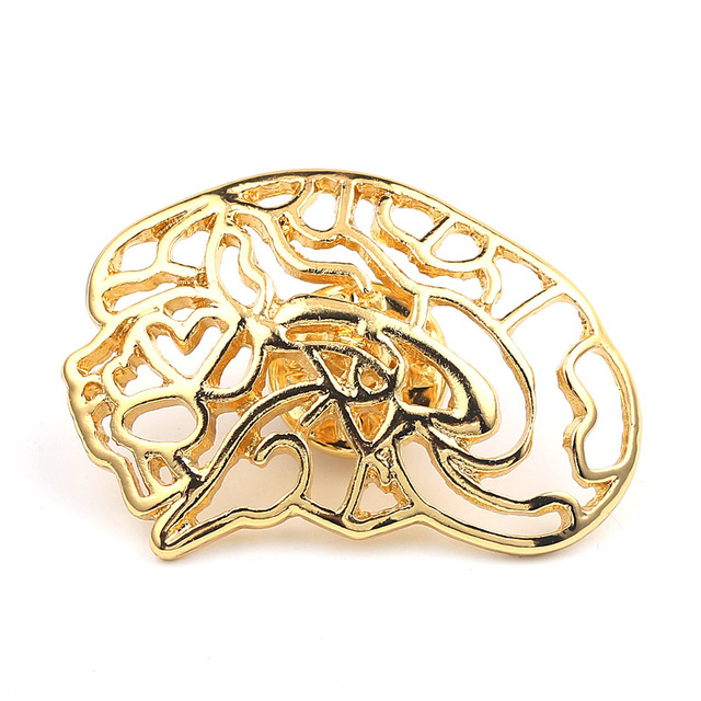 Wonderful Unique Gold Color Neurologist Brooch Medical Brain Nerve Lapel Pins Jewelry  Anatomical Gifts For Doctors Nurse
