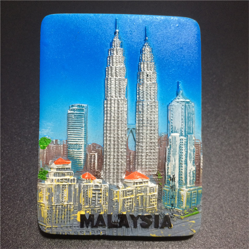 Malaysia Fridge Magnets Travel Tourism Souvenirs Gift Crafts