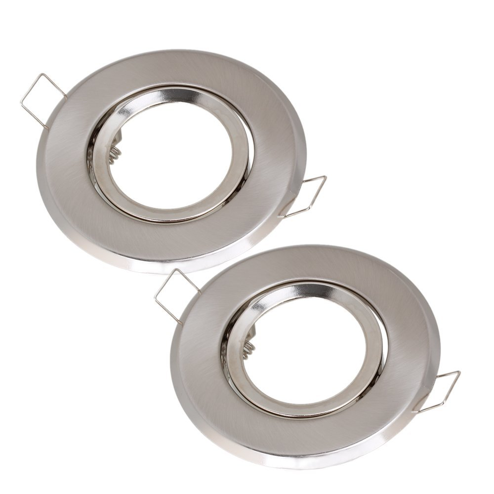official photos 7bbf1 1cea4 US $5.41 25% OFF|MR16 Polished Chrome Fitting Fixture Lamp Holders Ceiling  Spot Downlights Silver Pack of 2-in Lamp Bases from Lights & Lighting on ...