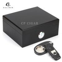 Juego de regalo de humidificador de cigarro GALINER humidificador higrómetro caja humidificador de madera de cedro España con Cenicero|Accesorios para cigarrillos|   -
