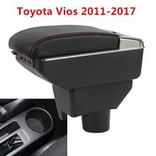 Двойной слой центральной консоли коробка для хранения Toyota Yaris L седан Vios 2014-2018 Faux подстаканник подлокотник Подлокотник 2015 2016 2017