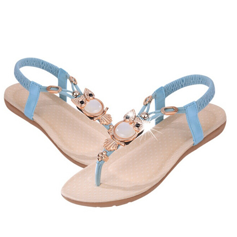 Aliexpress.com : Buy Women summer shoes flip flops beaded beach ...