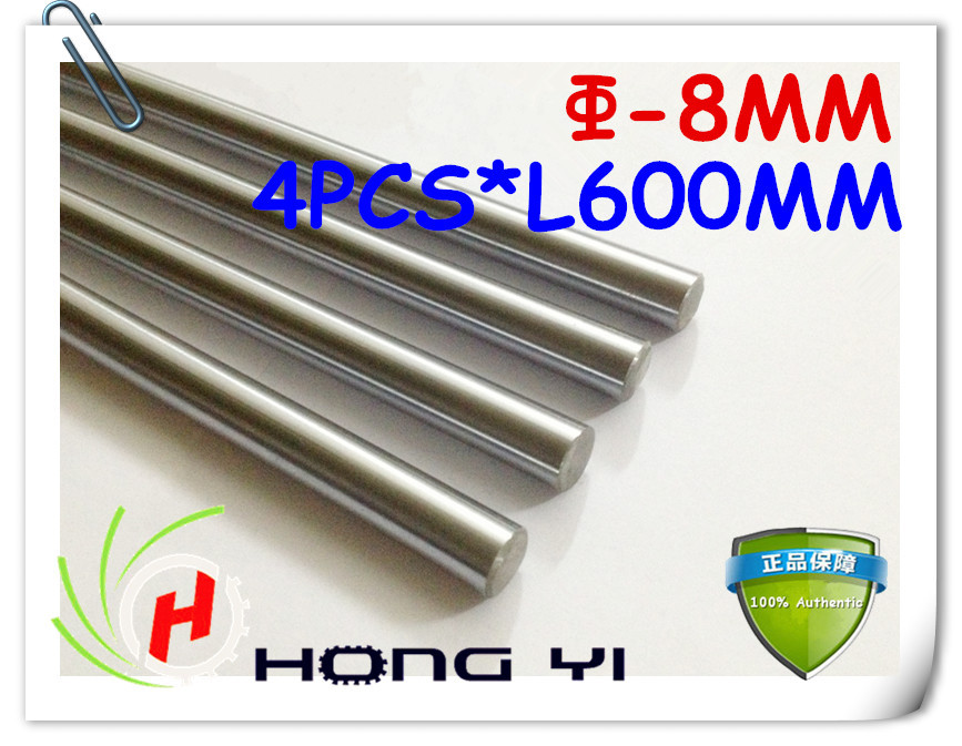 4pcs SFC8 mm - L600mm chrome plated Cylinder Linear Rail Round Rod Shaft Linear Motion Shaft for CNC XYZ chrome plated wired control plate for jazz bass total approx 152 54 mm l 344