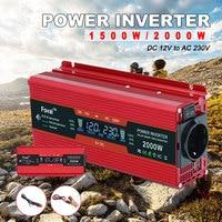 1500W/2000W/2600W power inverter LCD display EU socket DC 12V to AC 230V Modified Sine Wave Adapter dual 3.1A USB car inverter