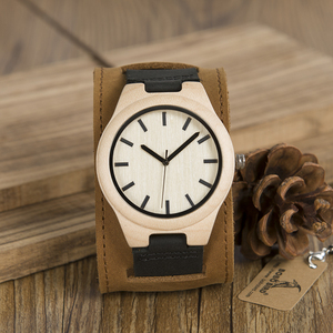 Image 3 - BOBO BIRD Mens Top Brand Mapel Wood Watches Chicago Bracelets Soft Leather Bands Straps With Gift Box Drop Shipping Relog