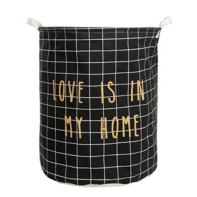 Baby Toys Black Laundry Basket Storage Bags Canvas Laundry Waterproof Bag Household Pouch Bag Home Storage Organization free