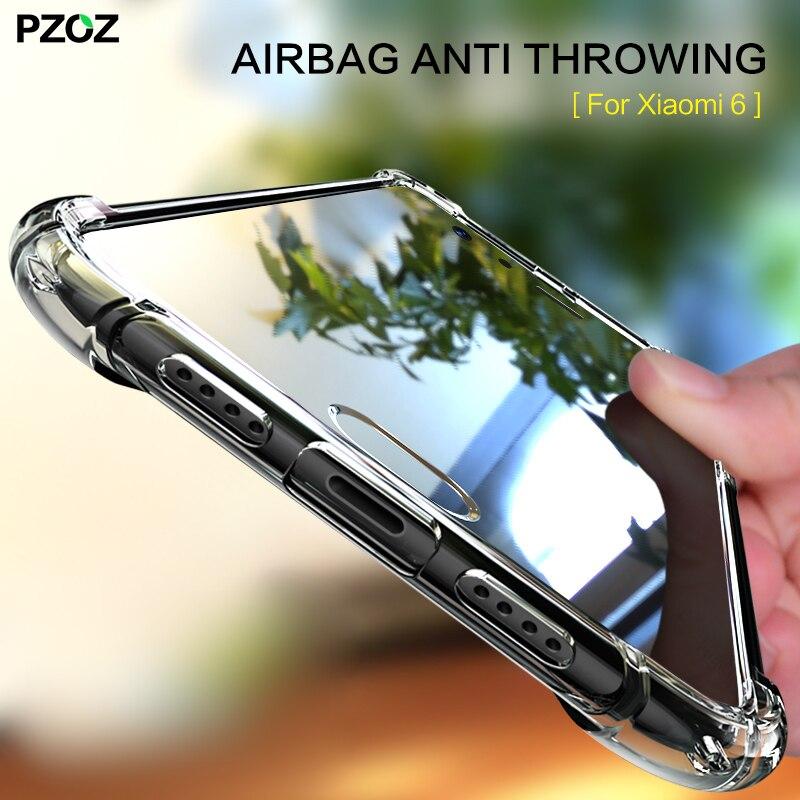 PZOZ for xiaomi mi6 case 360 shockproof original bumper accessories Cover silicone housing Shell for xiaomi mi 6 phone pro case