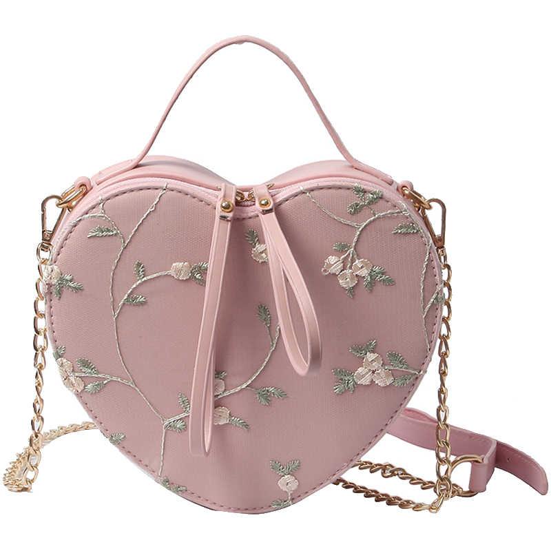 64d688a34d1f Japanese Design Womens Gril Lolita Heart Shape Bag Handbag Shoulder ...