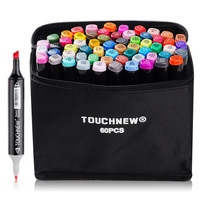 TOUCHNEW Dual Head Art Marker Pen Set 30 40 60 80 Color Oily Alcohol Based Sketch