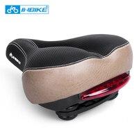 INBIKE Bicycle Saddle With Tail Light Widen MTB Saddle Cushion Road Bike Seat Shock Resistant Bike