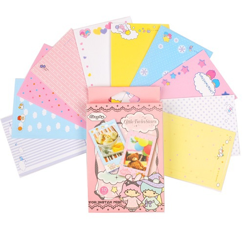 2 sets of Fujifilm Instax Mini 8/7s/25/50s - Cute Kiki&Lala Mini instax film decoration sticker for Polaroid Camera