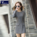 Womens Jacket And Coat Winter Women's Cashmere Wool Coat 2016 Fashion New Casual Slim Long Clothing Zipper Jacket Tops