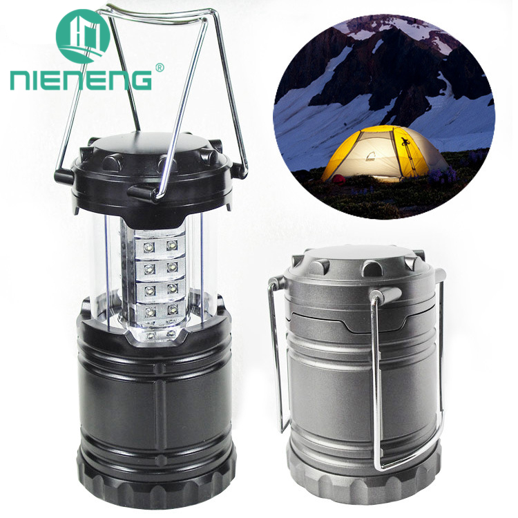 Nieneng portable outdoor 30 led camping lantern decoration hanger needs 3 aa batteries portable lanterns lighting ICD90092
