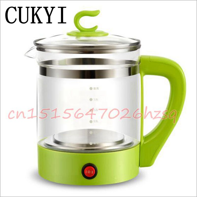 CUKYI Electric Kettles household tea pot set 1.8L capacity Glass safety auto-off function cukyi stainless steel 1800w electric kettle household 2l safety auto off function quick heating red gold