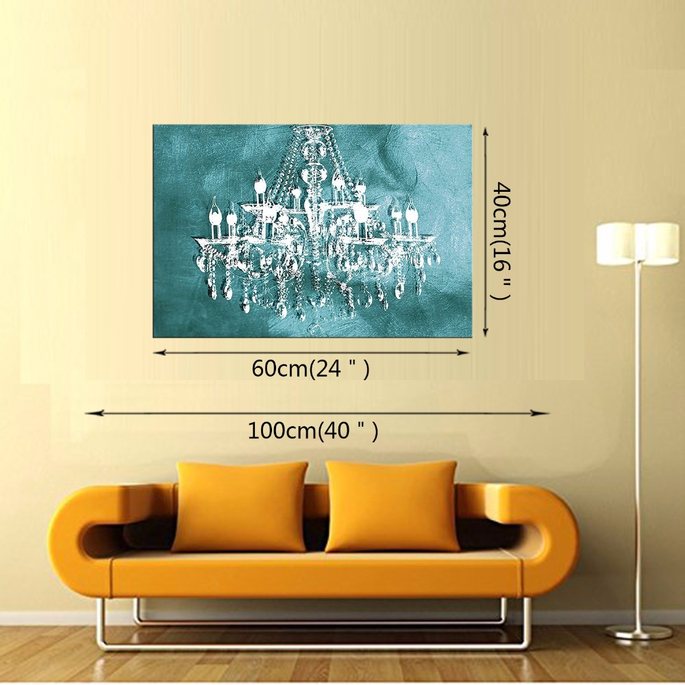 1 Panel Modern painting canvas art crystal chandelier pattern retro ...