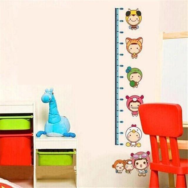 Baby Behang Jongen.Us 2 47 10 Off Leuke Meisjes Stack Hoogte Maatregel Muurstickers Muurtattoo Kids Vinyl Behang Mural Baby Meisje Jongen Kamer Nursery Decor Goedkope
