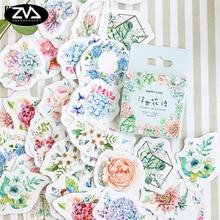 46pcs/lot Beautiful flowers sticker DIY decoration sealed envelope Scrapbooking Sticker Stationery kawaii label stickers