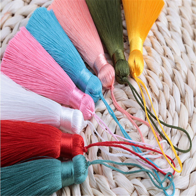 2pcs lot 8cm long exquisite rayon silk tassel jewelry making diy tassels fat chinese knot trim jewelry findings accessories in Jewelry Findings Components from Jewelry Accessories
