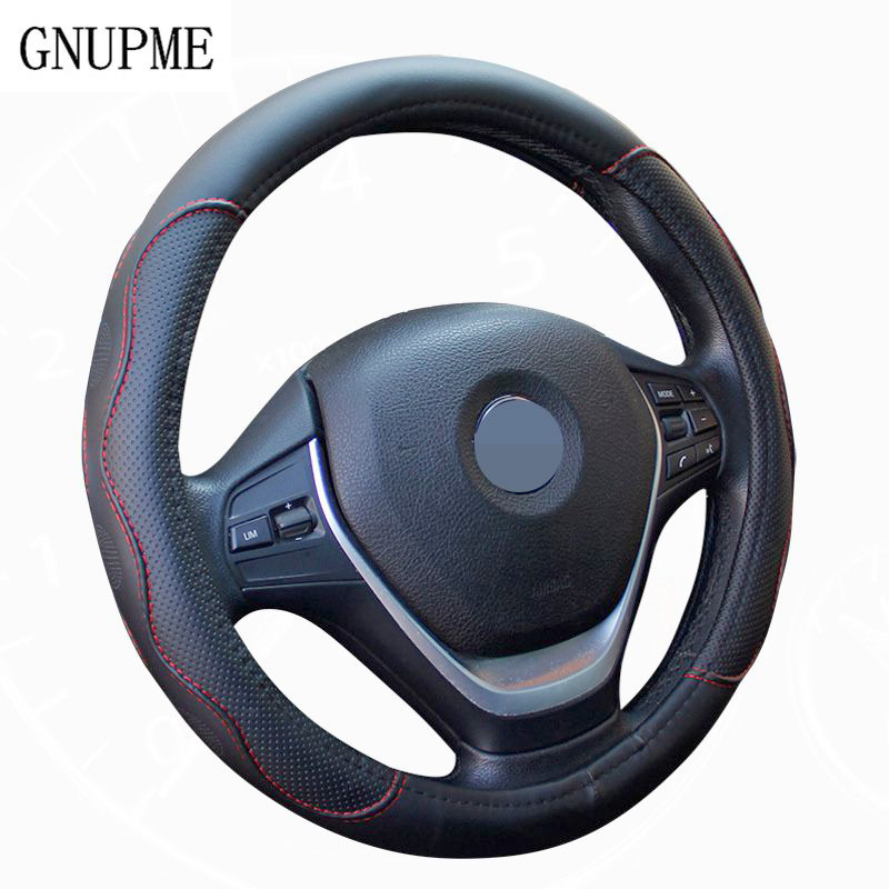High Quality Black Leather Steering Wheel Cover for BMW Ford KIA Honda VW Volkswagen Buick Chevrolet Nissan Toyota Hyundai