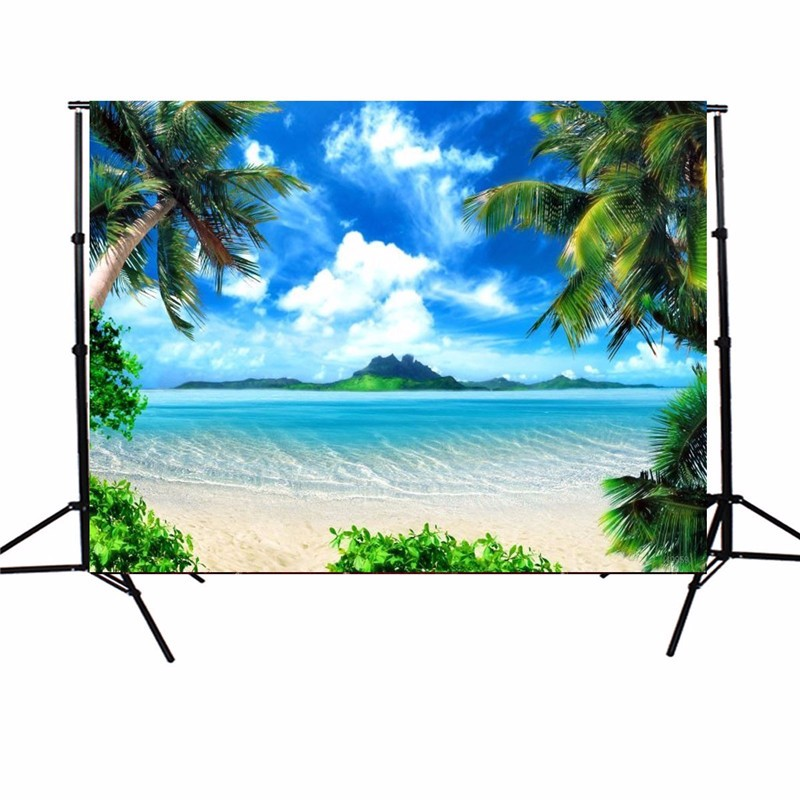 5X7ft Vinyl Photography Background Sunshine Sea Beach Photographic Backdrop For Studio Photo Prop Cloth 1.5*2.1m original tank007 tk566 led flashlight uv 395nm 1w black led light para pesca japan torch linterna ultravioleta