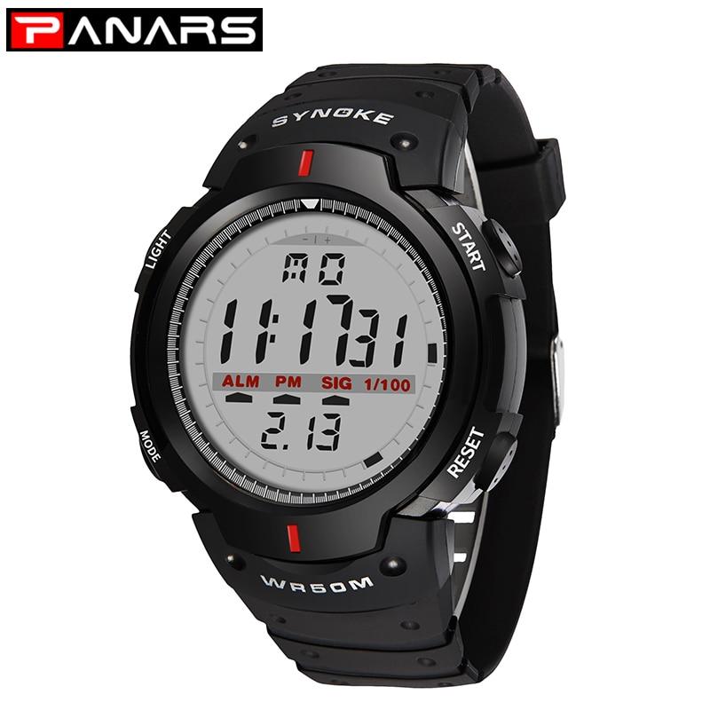 PANARS Men's Watch 30M Waterproof Electronic LED Digital Watch Men Outdoor Mens Sports Wrist Watches Stopwatch Relojes Hombre