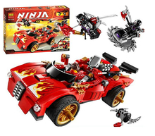 Bela Ninjagoes X-1 Ninja Charger Interceptor bike Building Block Set Kai 2 Nindroids Minifigures Toy legoe 70727 Compatible