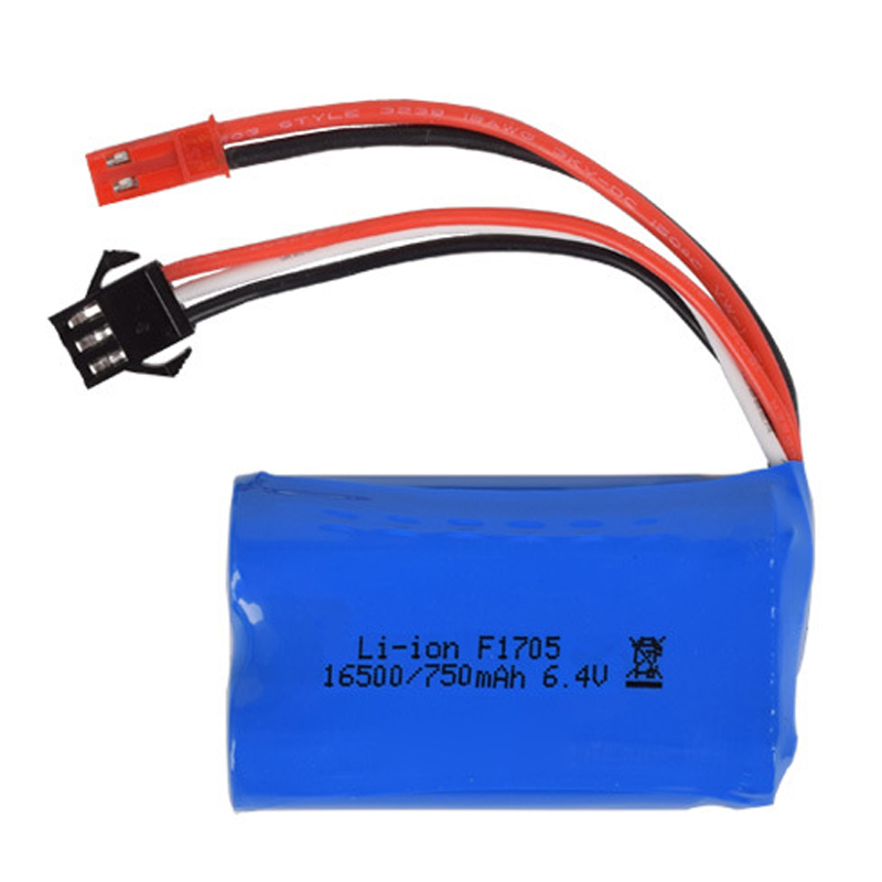US $10.99  6.4v 750mah 15C 16500 akumulator litowo jonowy WLTOYS A959 A 969 A 979 A K929 A RC bateria do zabawek SM 2P JST 2P battery rc rc