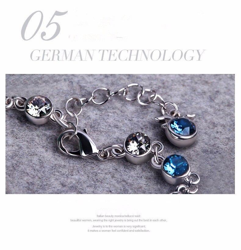 LYIYUNQ Fashion Bracelet Hot Wedding Female Heart Crystal Bracelets For Women Luxury Temperament Silver-Color Fine Jewelry Gift 5