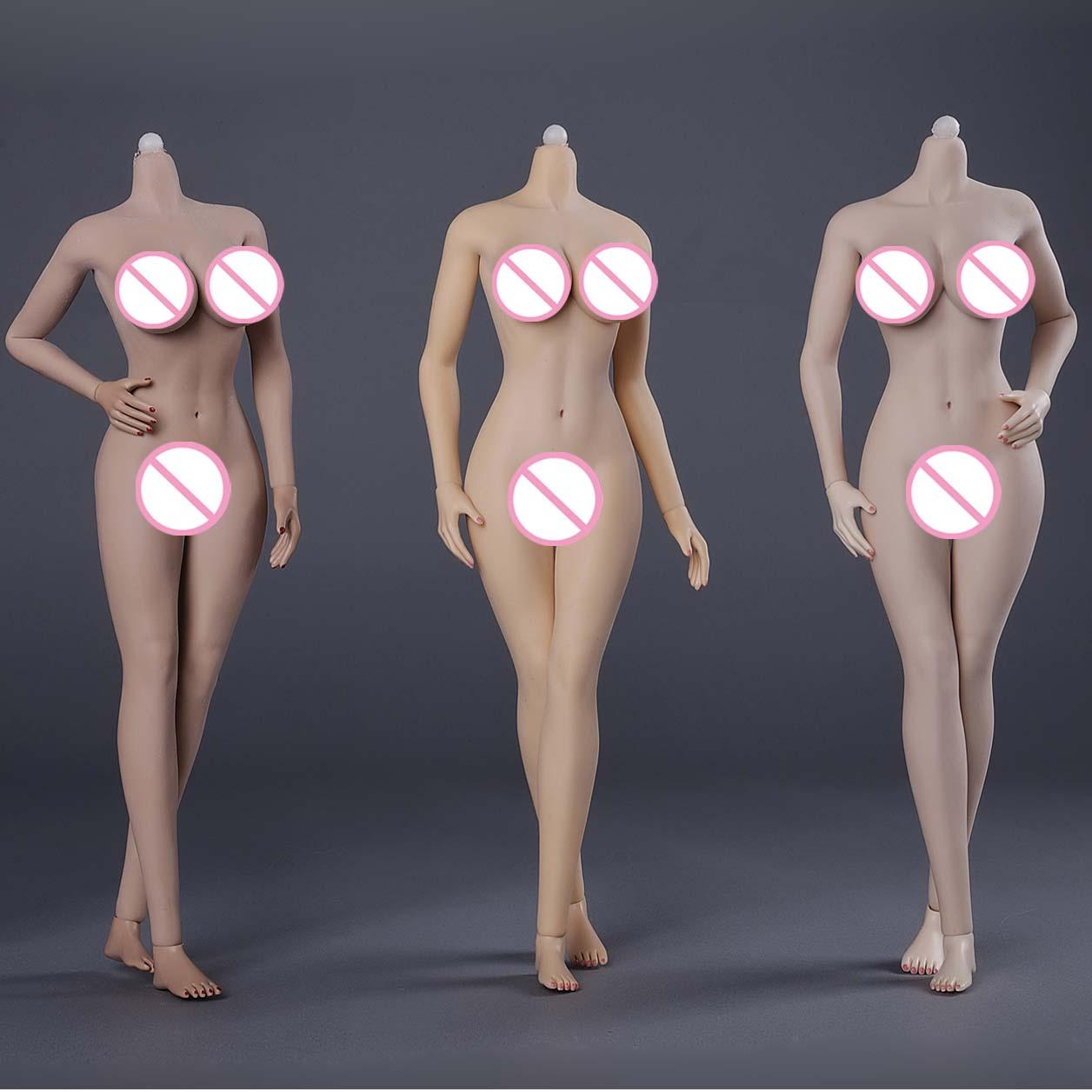 JIAOU DOLL 3 0 1 6 Scale Figure Super Flexible European Shape Big bust Female Seamless