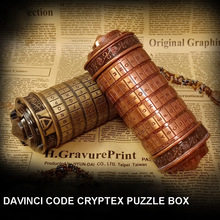 Davinci Code Cryptex Locker Puzzle Box Free With LOTR Rings Couple Lovers Birthday Valentine s Day