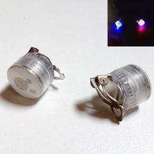 LED Flashing Blinking Stainless Steel Ear Stud Earrings Cool Colorful Luminous for DJ Dance Party Bar Unisex For Women Men