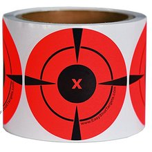 3inch 250pcs per roll Targets Adhesive Shooting stickers Neon Orange Self-Adhesive Target Sticker for