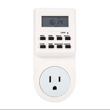 Plug-in Programmable LCD Display Timer Switch Socket with Clock Summer Time Function12/24 Hour Timer Switch Socket Smart Home
