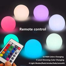 Home LED Ball Night Lights Rechargeable Portable Bedside Lamp Mood Light Table Colors Changing Perfect for Bedroom