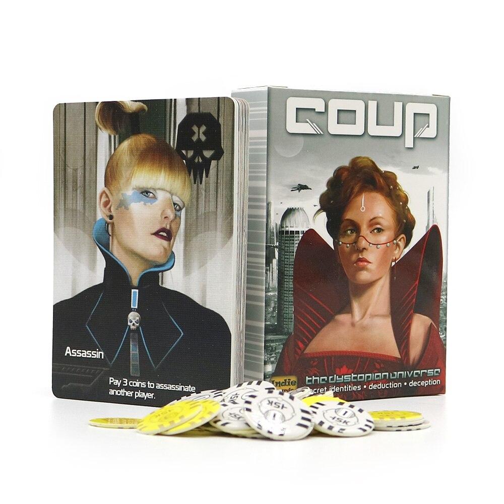Tam İngilizce sürüm darbe kurulu oyunu temel + reformasyon ev partisi için eğlence eğlence strateji kart oyunu