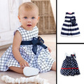2017 nuevo cute baby dress baby girl dress de la gasa del verano ropa de bebé red dots dress para las niñas vestido infantil 0-24 M