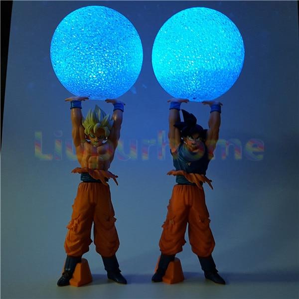 Dragon Ball Z Son Goku Spirit Bomb Led Night Lights Lamp Anime Dragon Ball Z DBZ Son Goku Led Light Christmas Decor dragon ball z figurines son goku gogeta
