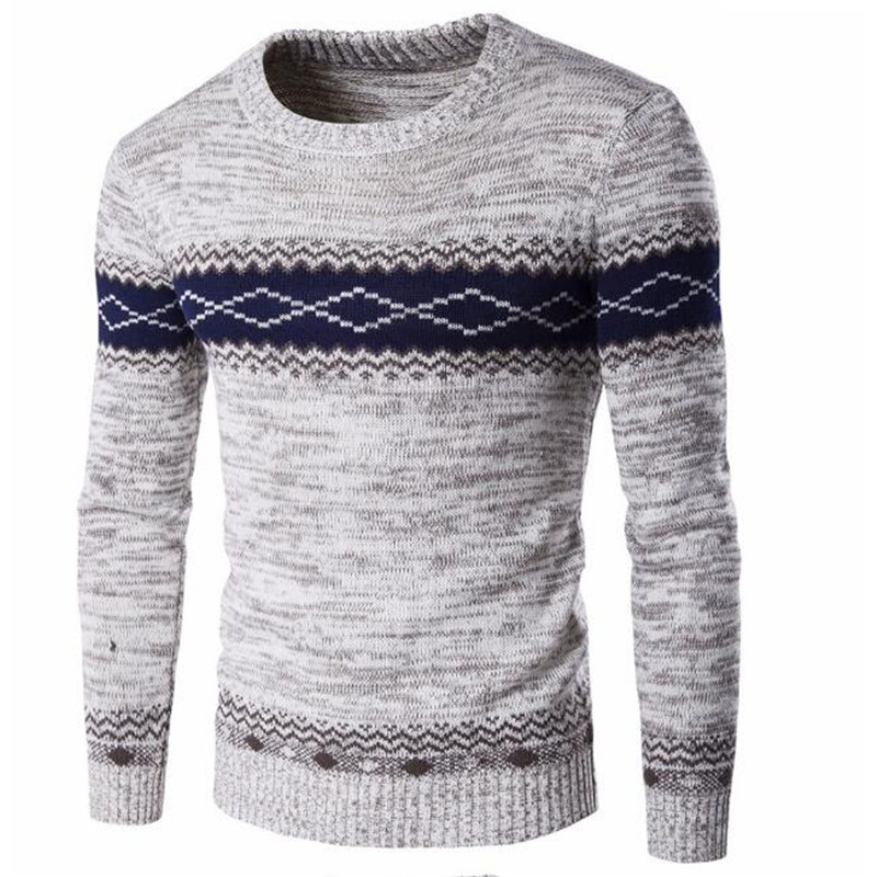 2019 Mens Sweaters Knitwear Men's Fashion Autumn / Winter Sweater Casual Striped Men O-Neck Pullovers Knitted Male Long Sleeve