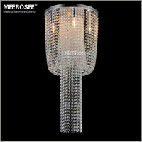 Long Size Crystal Light Fixture French Empire Chandelier Lustre Light Bedroom Aisle Porch Lamp Hallway Crystal