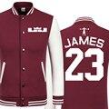 2016 Primavera nueva chaqueta ocasional Cavaliers LeBron James hombres baratos chaquetas de invierno abrigo masculino chaqueta de la universidad chaqueta de los muchachos hip hop