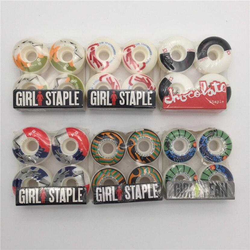 New Original USA Mädchen Skateboard Wheels 50 & 52mm & 54mm für Profi-Skateboard-Deck und Skater mit guter Qualität Skate-Räder