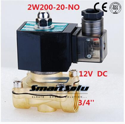 Free Shipping 5PCS 3/4'' Normally Open Water Solenoid Brass Valve Model 2W200-20-NO DC12V rihanna anti tour hat bitch i know you know hip hop swag hats snapback bone baseball cap dad hats for man visor