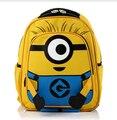 2015 новый горячий продавать Гадкий я мультфильм миньон школьный рюкзак для детей школьный девушка студенческие рюкзаки mochila infantil