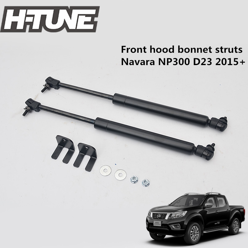H-TUNE 4x4 Accessories Front Hood Bonnet Gas Shock Damper Struts fit for NAVARA D23 NP300 2015+
