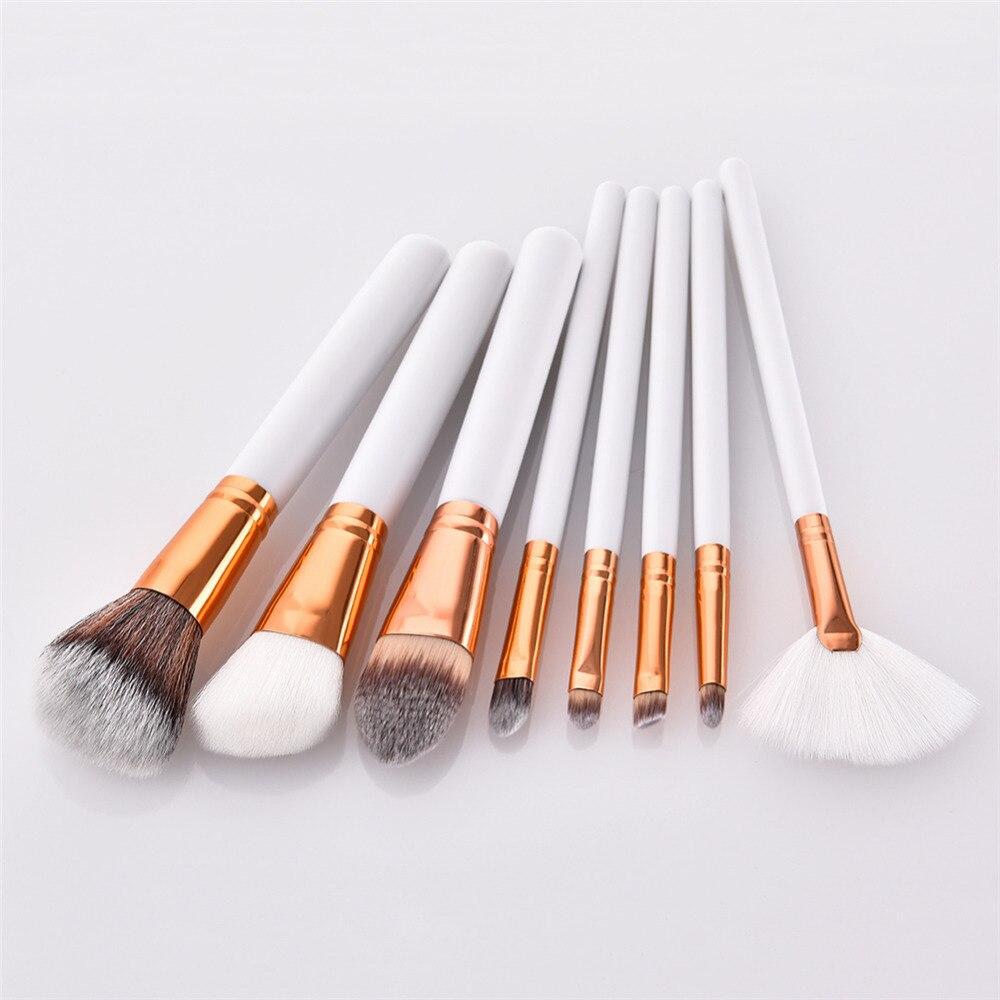 Pro 5-15pcs Makeup Brushes Set Angled Round Foundation Powder Eye Shadow Blush Blending Fan Lip Cosmetic Beauty Brush Tool Kit