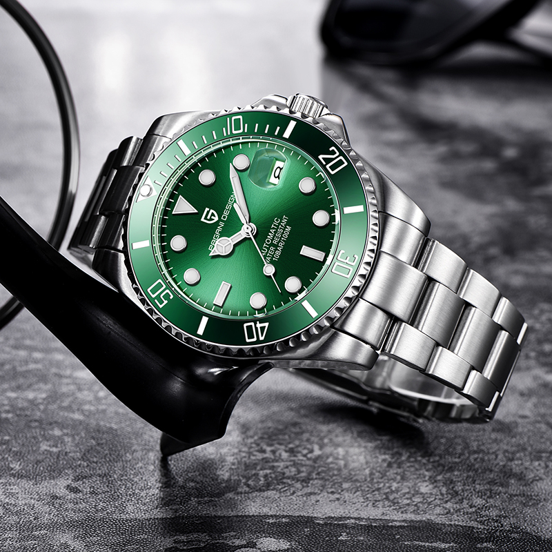 PAGANI Design Brand Luxury Men Watches Automatic Black Watch Men Stainless Steel Waterproof Business Sport Mechanical Wristwatch - 5