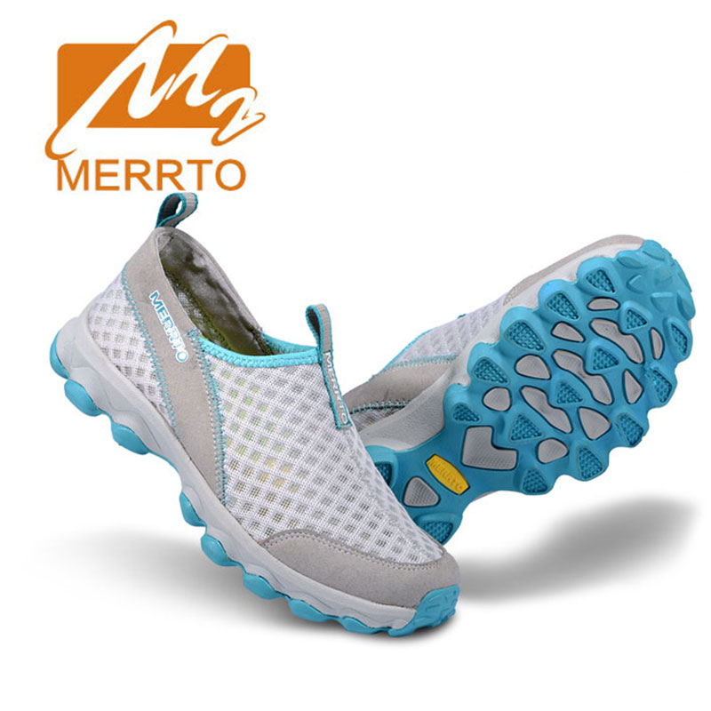 MERRTO 2017 Women Sport Hiking Sandals Amphibious Water Shoes Breathable Leather Shoes Quick Dry Outdoor Aqua Beach Sandals