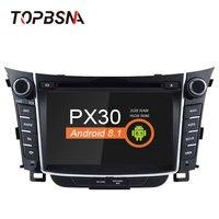 TOPBSNA 2 DIN 7 inch Android 8.1 Car DVD Player For HYUNDAI i30 Elantra 2011 2016 Multimedia GPS Navigation Radio Audio Stereo
